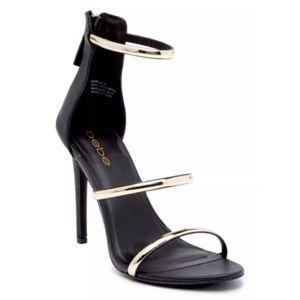 NEW bebe Women's Berdine Strappy Sandals Black